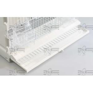 Art.315/FB3 Výstavná klietka s tromi dvierkami a bielymi mriežkami