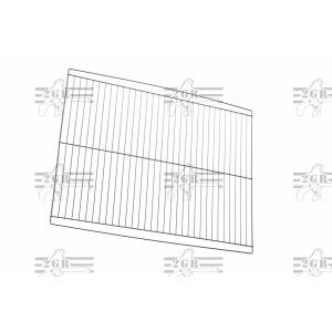 Art.413 pochrómovaná  predeľovacia  stena pre klietky 120 and 90 cm od 2gr