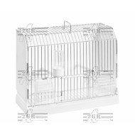 Art.315/FZ3 výstavna plastová klietka trojdverová s kovovými mriežkami