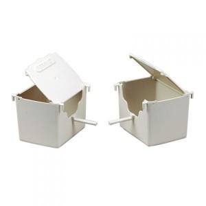 N015 Plastová hniezdna búdka pre exoty,zebričky