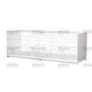 Art.401 Chovna preletovačka 120 cm- biela - skladacia
