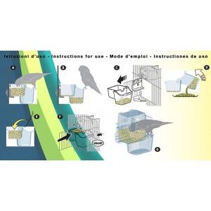 Art.430 Kŕmidlo Recupera pre  malé a stredné papagáje -NOVINKA!